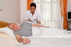 nurse giving personal assistance service